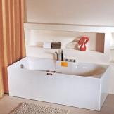 英士利按摩冲浪浴缸 双裙边 连体无接缝 一体式浴缸