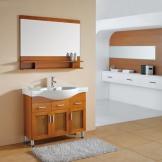 ��玛简约现代落地式 佛山实木橡木浴室柜