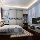 索菲亚卧室家具全套订制 衣柜床头柜书柜电视柜组合