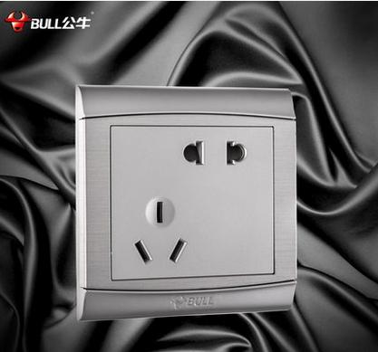 公牛开关插座五孔电源插座86型墙壁面板10A二三眼G19Z2