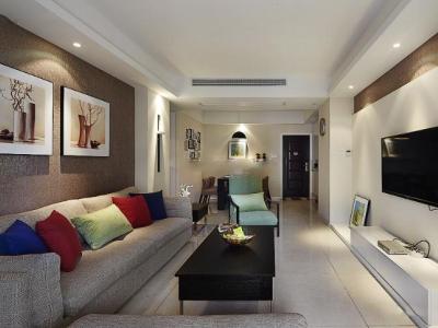现代简约-89.4平米二居室装修样板间