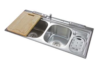 罗芬卫浴 厨房水槽不锈钢盆95101