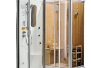 1.57/1.8米豪华整体淋浴房干蒸湿蒸三用桑拿房