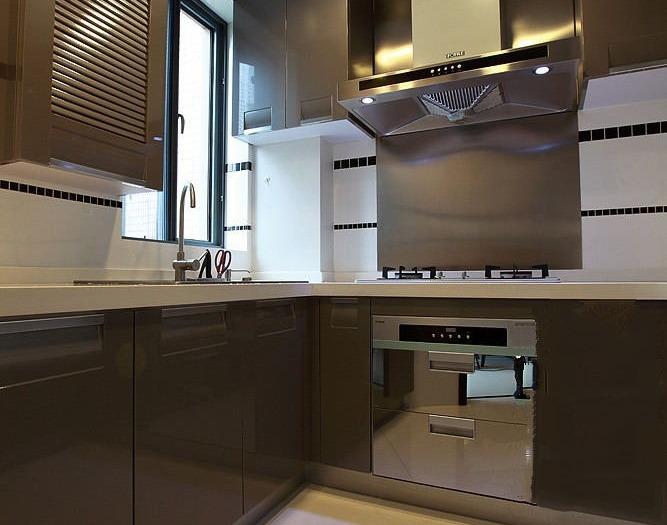 新中式风格-122平米三居室-装修样板间