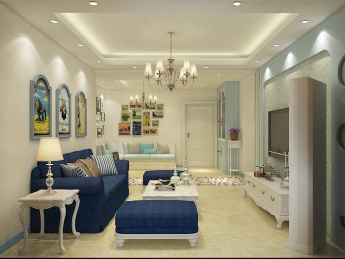 地中海风格-96.31平米二居室-装修样板间