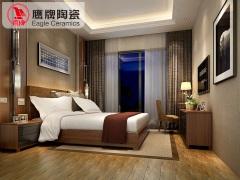 鹰牌陶瓷 卧室地砖仿古砖 防实木仿地板地砖防滑木纹砖瓷砖地砖