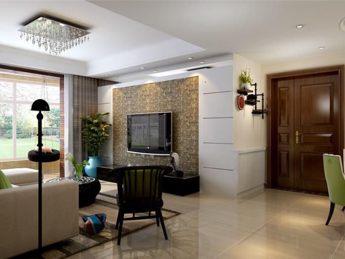 现代简约-119.56平米二居室-装修样板间