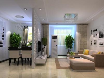 现代简约-101平米二居室装修样板间