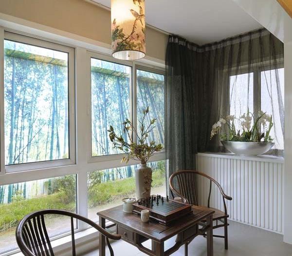 中式风格-140.06平米三居室-装修样板间