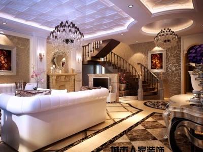 西式古典-276平米五居室装修样板间