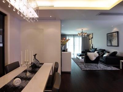 现代中式-144.55平米三居室装修样板间