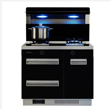 奥力(OLI)90F1 集成灶具 燃气灶油烟机套装 蒸汽清洗