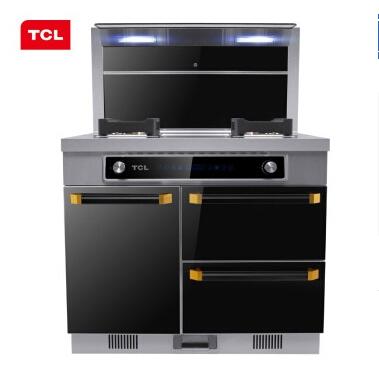 TCL JC18集成灶 双电机侧吸式环保灶 抽油烟机灶具套装