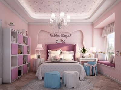 简欧风格-179平米三居室装修样板间