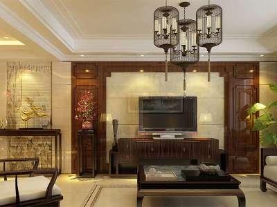 中式风格-150平米三居室装修样板间