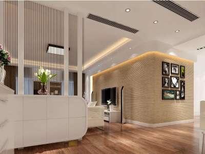 现代简约-168.7平米三居室装修样板间