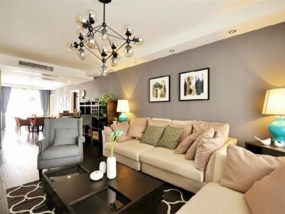 现代舒适-136.3平米三居室装修设计