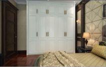顶固衣柜伊丽莎白开门白浮雕图片