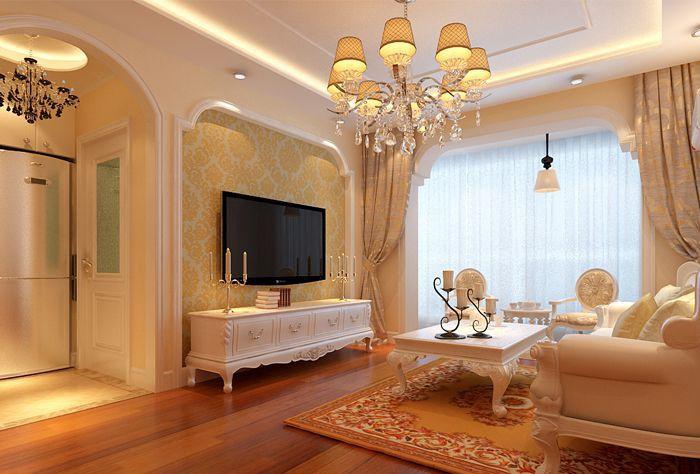 欧美风情-60平米一居室-装修样板间