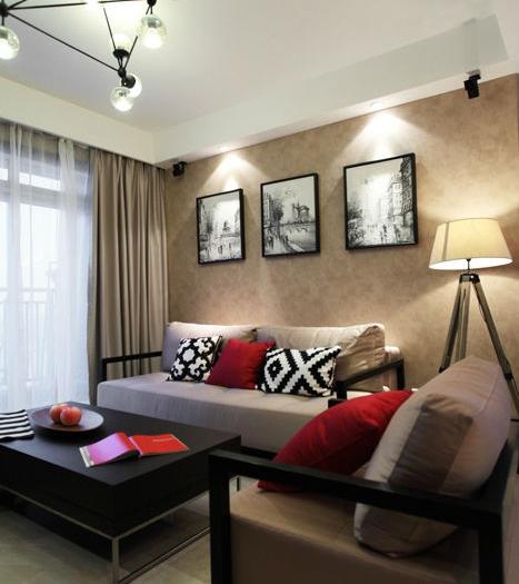 现代简约-99.1平米二居室-装修样板间