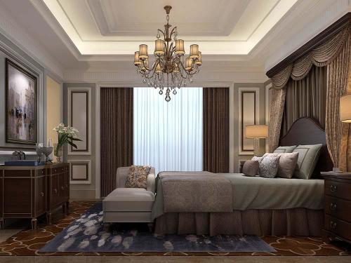 再以奶白,淡灰绿色为主色调的护墙板,优雅的造型,细致的线条和金箔图片