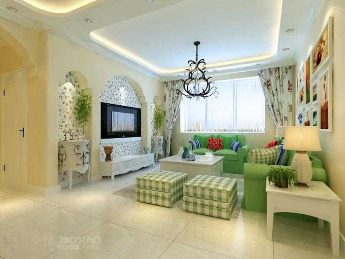 田园风格-92平米二居室-装修样板间