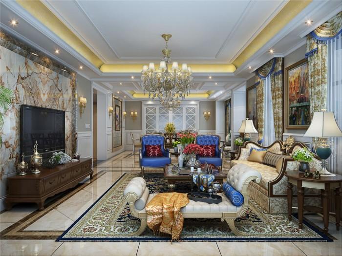 混搭风格-420平米六居室以上-装修样板间