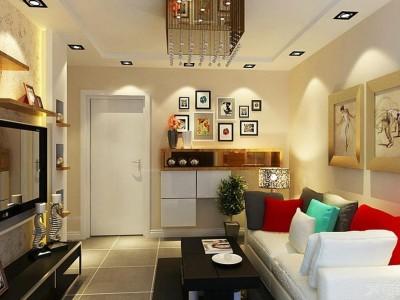 现代简约-61.23平米一居室装修样板间