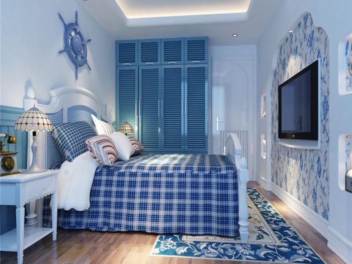 地中海风格-100.76平米二居室-装修样板间