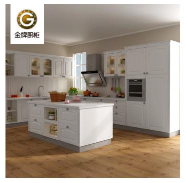 金牌厨柜 西雅图Ⅱ之伊丽莎白 简欧风格 石英石台面 厨房厨柜