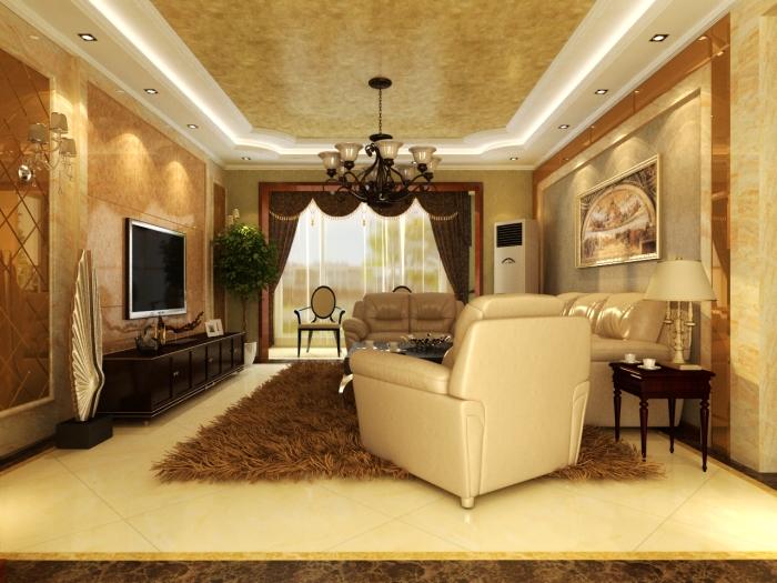 简欧风格-162.22平米三居室-装修设计