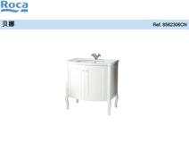 Roca乐家贝娜新古典式家具三孔 浴室家具柜图片