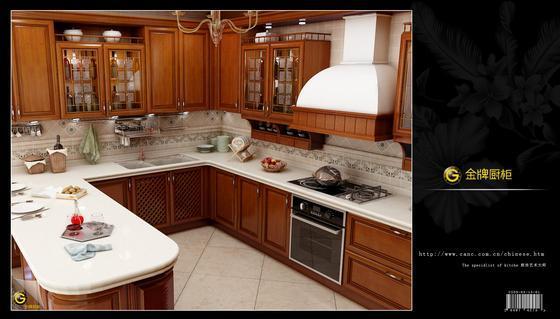 金牌古典主义实木厨柜-索尼亚