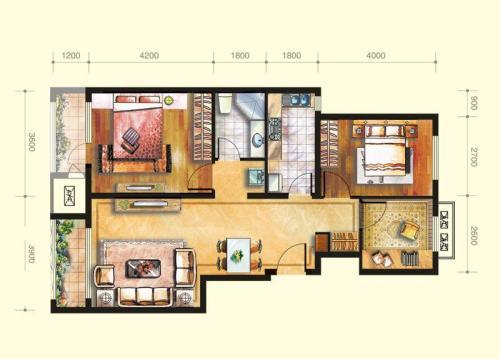 兴盛大成-三居室-简欧风格