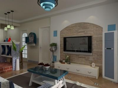 地中海风格-65平米一居室装修样板间