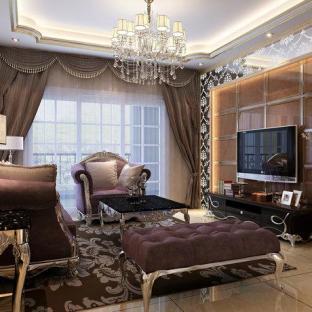 欧式风格四居室装修效果图