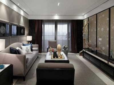 新中式风格-140平米三居室装修样板间