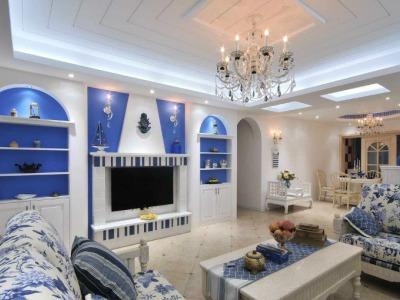 地中海风格-133平米三居室装修样板间