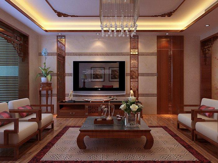 西式古典-103平米三居室-装修样板间