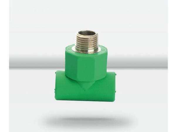 天力水管 绿色管材管件外螺纹三通接头20 25 32配件
