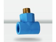 天力PPR水管 蓝色外螺纹三通接头20 25 32 管材配件