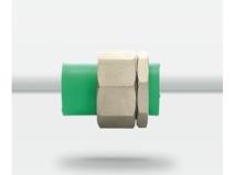 天力水管 绿色管材-双承口-活接头20 25图片