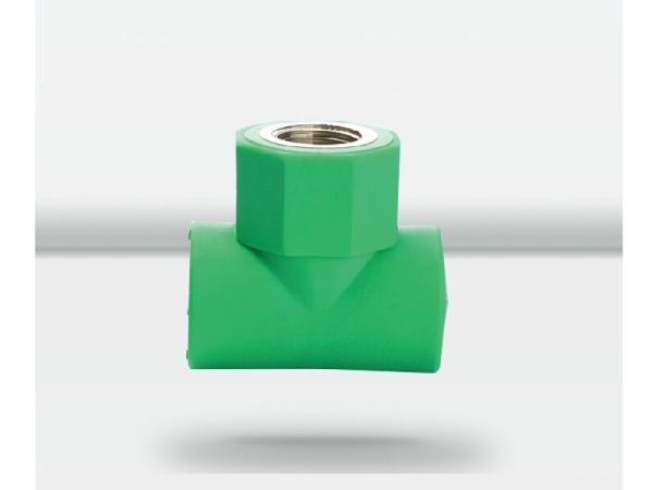 天力水管绿色管材管件内螺纹三通接头20 25 32