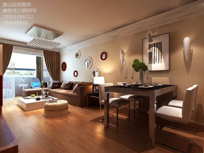 现代简约-88平米二居室-装修设计