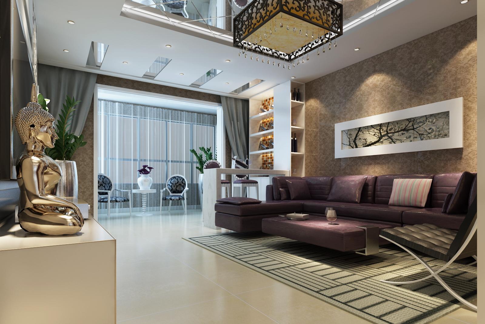【提炼黑白配】120平米三居室现代简约风格北京二手房装修设计效果图