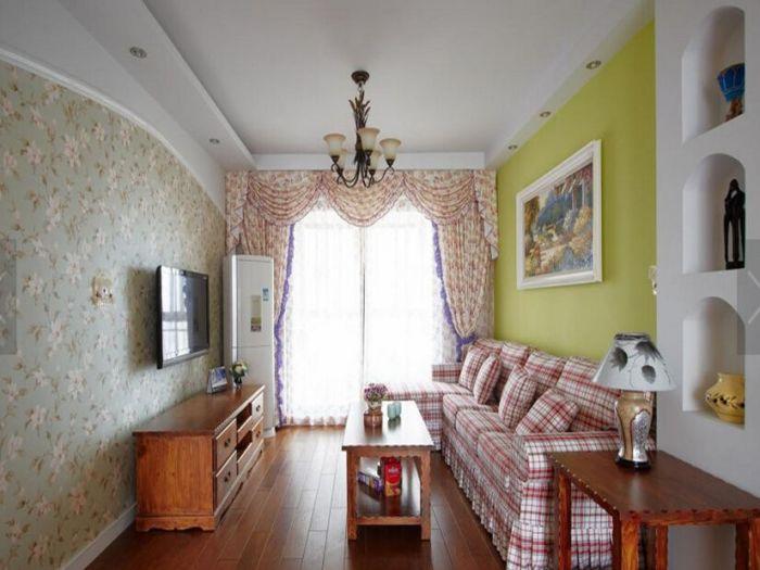 田园风格-87平米二居室-装修样板间