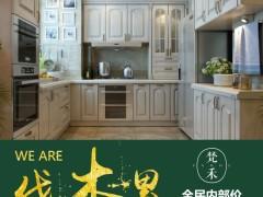 梵禾橱柜 定做 水曲柳实木橱柜 实木整体厨房 厨柜 定制 厂