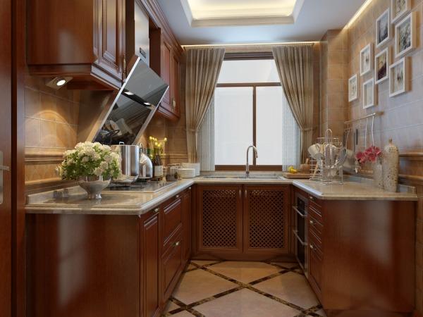 成都实木高端奢华欧式橱柜定制缅甸柚木整体厨房厨柜定做免费设计