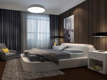 东南亚风格二居室卧室床头柜装修图片