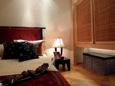 东南亚风格-96平米二居室装修样板间